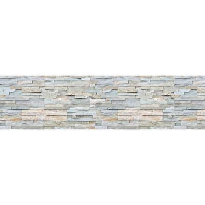 Grey Stones Peel and Stick Backsplash Wall Decal