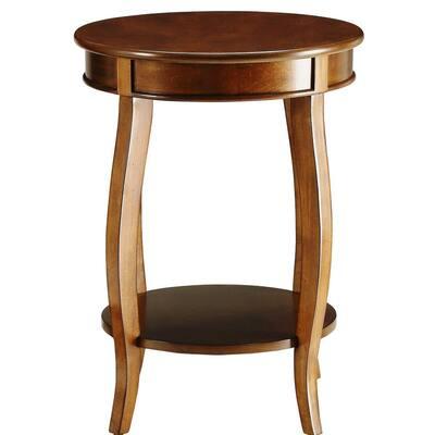 Amelia Walnut Solid Wood Leg Side Table