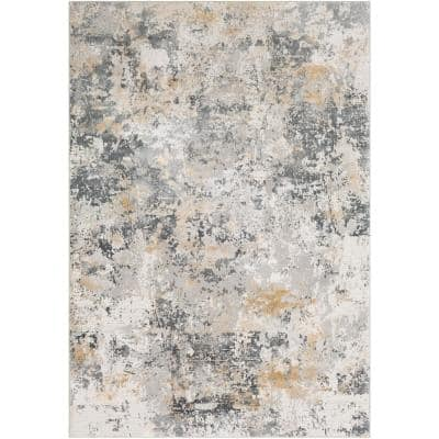 Marquis Charcoal 9 ft. 3 in. x 12 ft. 3 in. Distressed Area Rug