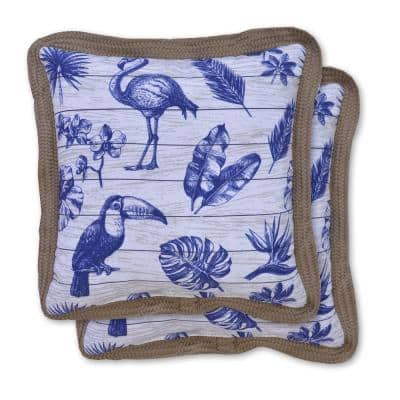 Boardwalk Square Outdoor Throw Pillow (2-Pack)
