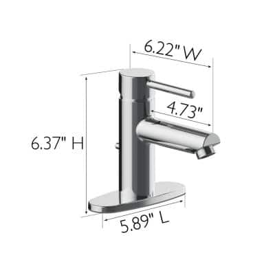 Eastport II Single-Handle Single Hole Bathroom Faucet in Polished Chrome