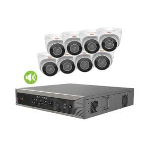 Ultra HD Commercial Grade Audio Capable 16-Channel 4TB NVR Surveillance System with 8 Motorized 4K Cameras