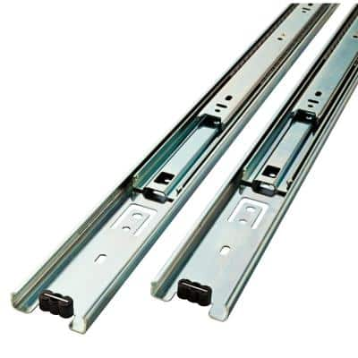 12 in. Full Extension Side Mount Ball Bearing Drawer Slide Set 1-Pair (2 Pieces)