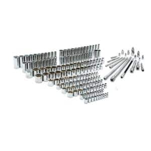 1/4 in. x 3/8 in. and 1/2 in. Drive Socket and Accessory Set (219-Piece)