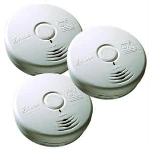10 Year Worry-Free Sealed Battery Smoke Detector with Photoelectric Sensor (3-Pack)