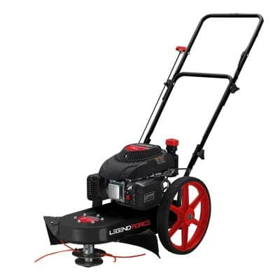 22 in. 173 cc Walk Behind Gas String Trimmer with Adjustable Height and CARB Compliant Engine