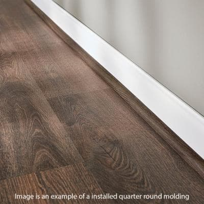 Stony Oak Grey 19 mm Thick x 3/4 in. Wide x 94 in. Length Coordinating Vinyl Quarter Round Molding
