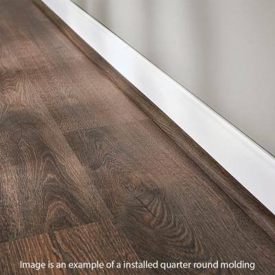 Sannita Neutral 19 mm Thick x 3/4 in. Wide x 94 in. Length Coordinating Vinyl Quarter Round Molding
