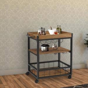 Trinity White Kitchen Cart With Towel Rack Tbflwh 1402 The Home Depot