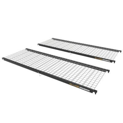 74.25 in. x 25.5 in. x 2 in. Steel Add-On Storage Shelf for Any 6 ft. MetalTech Scaffold Bench, 200 lb. Capacity, 2-Pack