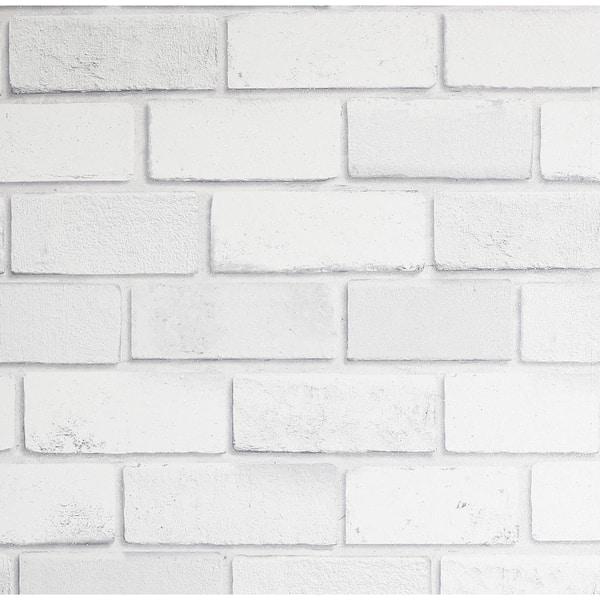 Arthouse Diamond White Brick Vinyl Wallpaper 902009 The Home Depot