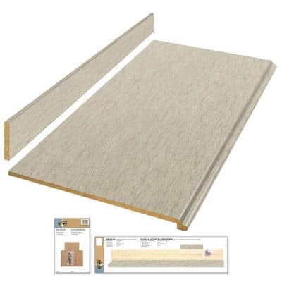 6 ft. Beige Laminate Countertop Kit with Full Wrap Ogee Edge in Sierra Cascade Limestone