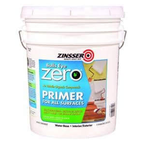 Bulls Eye Zero 5 gal. White Water-Based Interior/Exterior Primer and Sealer