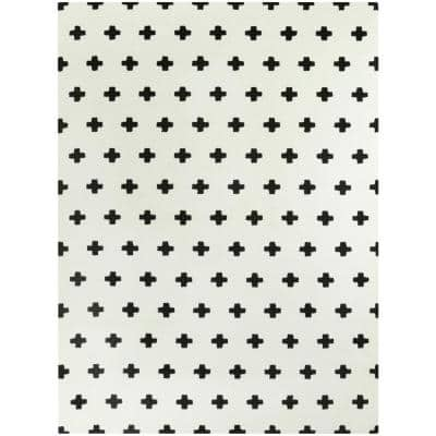 Super Soft Plus Small Black 5 ft. x 7 ft. Area Rug