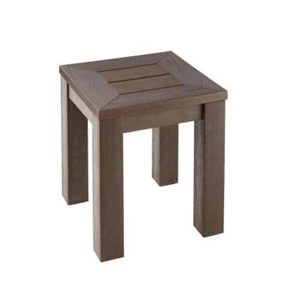 Tacana All Weather Faux Wood Outdoor Side Table