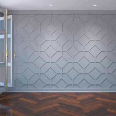 "3/8"" x 25-5/8"" x 15-3/8"" Cameron Decorative Fretwork Wall Panels in Architectural Grade PVC"