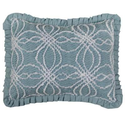 Rosa Blue Standard Pillow Cover