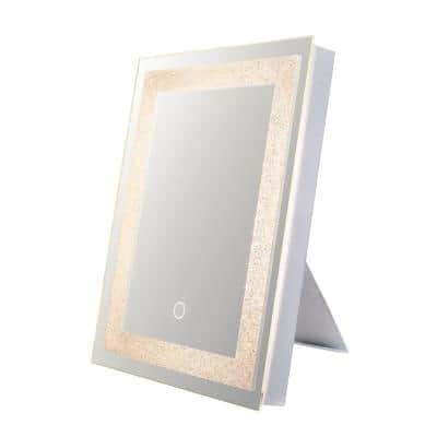 Edison 12 in. W x 16 in. H Frameless Rectangular LED Light Bathroom Vanity Mirror in Clear