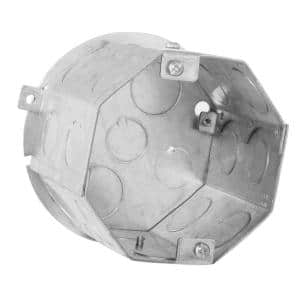 4 in. Octagon Welded Concrete Ring, 3-1/2 in. Deep with 1/2 and 3/4 in. Knockouts and iIcludes 890 cover (20-Pack)