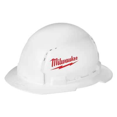 BOLT White Type 1 Class C Full Brim Vented Hard Hat