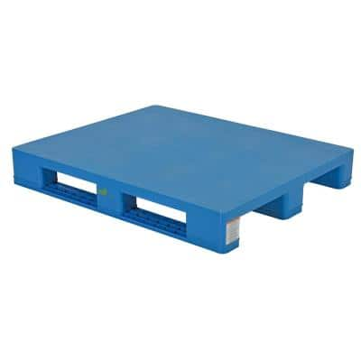 47 in. x 40 in. x 7 in. Hygenic Rackable and Solid Top Plastic Pallet/ Skid
