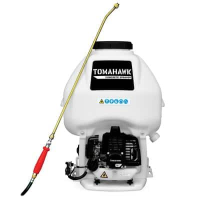 6.5 Gal. Backpack Concrete Sprayer with 1.8 HP Engine, Wand Attachment and 0.5 GPM Fan Nozzle for Concrete Finishing