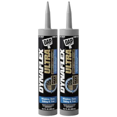 Dynaflex Ultra 10.1 oz. Gray Advanced Exterior Window Door and Siding Sealant (2-Pack)