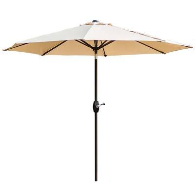 Tristen 9 ft. Aluminum Tilt Patio Umbrella in Beige