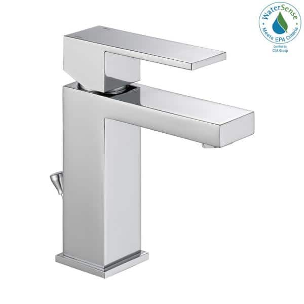 Delta Modern Single Hole Single Handle Bathroom Faucet In Chrome 567lf Pp The Home Depot