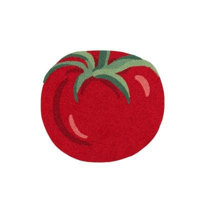 Cucina Tomato Red 2 ft. 6 in. x 2 ft. 9 in. Kitchen Mat