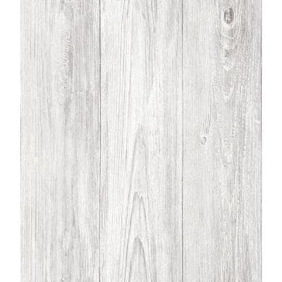 Mapleton Off-White Shiplap Paper Strippable Roll (Covers 56.4 sq. ft.)