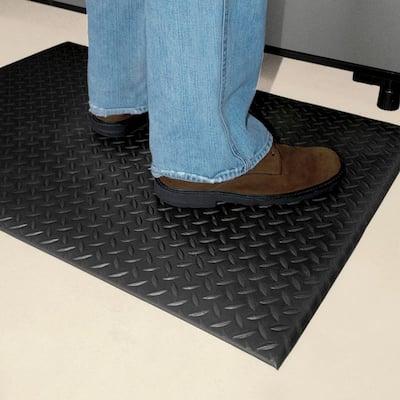 Black 36 in. x 48 in. Foam Commercial Door Mat