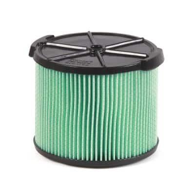 5-Layer HEPA Material Pleated Paper Filter for 3 to 4.5 Gal. RIDGID Wet/Dry Shop Vacuums