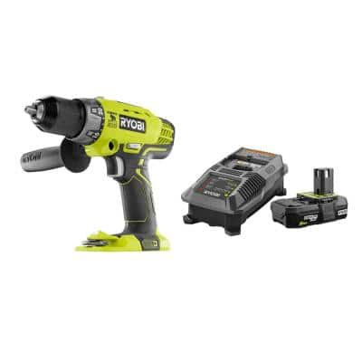 18-Volt ONE+ Cordless 1/2 in. Hammer Drill/Driver with Handle with 2.0 Ah Battery and Charger Kit