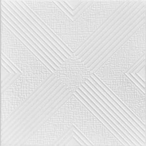 Hidden Trasure 1.6 ft. x 1.6 ft. Glue Up Foam Ceiling Tile in Plain White (21.6 sq. ft./case)