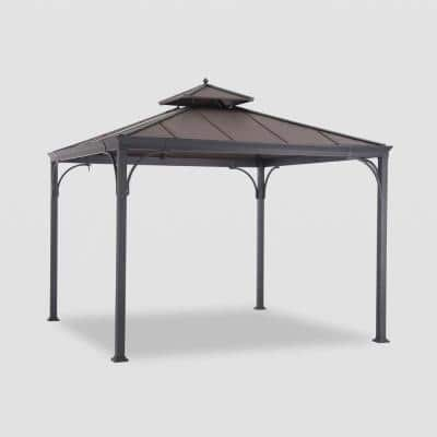 Haden 10 ft. x 10 ft. Copper Square Steel Hard Top Gazebo