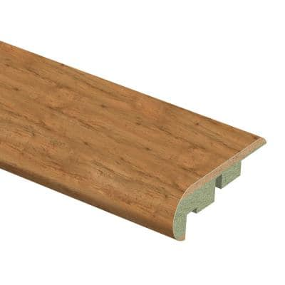 Burnished Caramel Oak 3/4 in. Thick x 2-1/8 in. Wide x 94 in. Length Laminate Stair Nose Molding