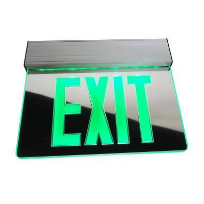 EXL2 Series 3.6-Volt Mirrored Integrated LED Emergency Exit Sign with Green Lettering