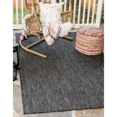 Outdoor Solid Black 9' 0 x 12' 0 Area Rug