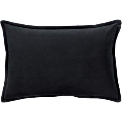 Velizh Black Solid Polyester 19 in. x 20 in. Throw Pillow