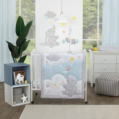 Shine Bright Little Star Cloud 3-Piece Nursery Mini Crib Bedding Set (Comforter and 2-Fitted Mini Crib Sheets)