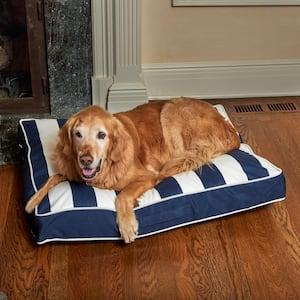 Sadie Reversible Medium Navy and White Striped Olefin Pet Bed