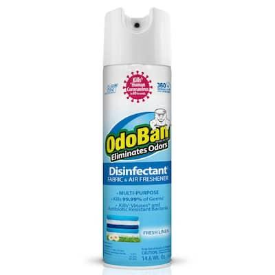 14.6 oz. Fresh Linen Disinfectant Spray, Odor Eliminator, Sanitizer, Fabric and Air Freshener, Multi-Purpose Cleaner