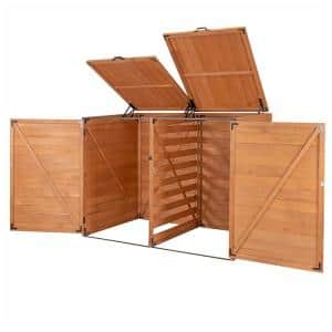 4.9 ft. x 3 ft. x 4 ft. Cypress Medium Horizontal Trash and Recycling Storage Shed