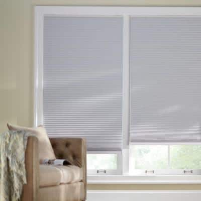 Shadow White Cordless Blackout Cellular Shade  - 34.5 in. W x 72 in. L