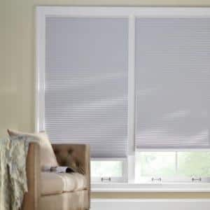 Shadow White Cordless Blackout Cellular Shade  - 28 in. W x 64 in. L