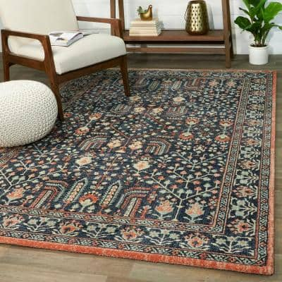Jenson Blue 5 ft. x 7 ft. Traditional Area Rug