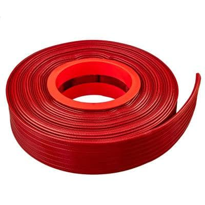 2 in. Dia x 100 ft. Red PVC 10 Bar High Pressure Lay Flat Discharge and Backwash Hose
