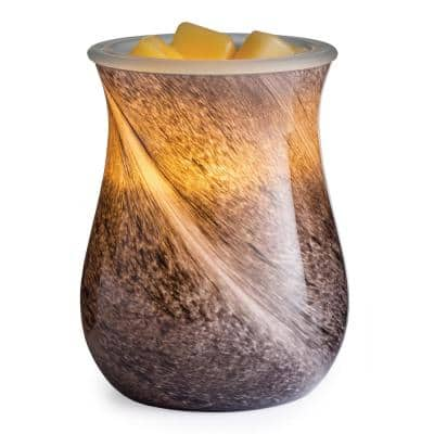 Obsidian Blown Glass Illumination Warmer