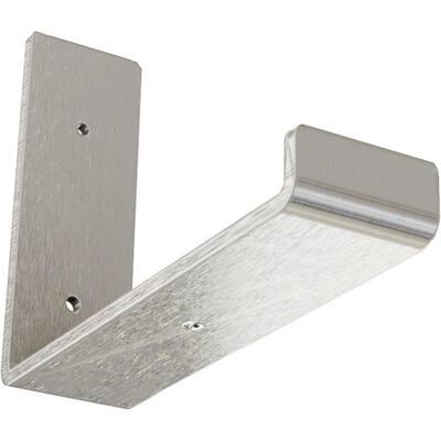 2 in. x 6 in. x 8 in. Stainless Steel Steel Hanging Shelf Bracket
